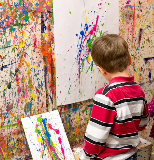 {4Cats Art Studio} Paint Splatter Birthday Party - Ottawa Photographer