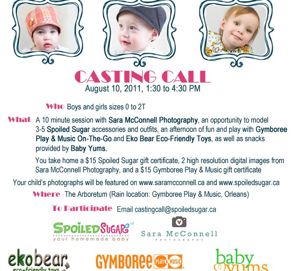 Casting Call ~ Ottawa Children's Photographer