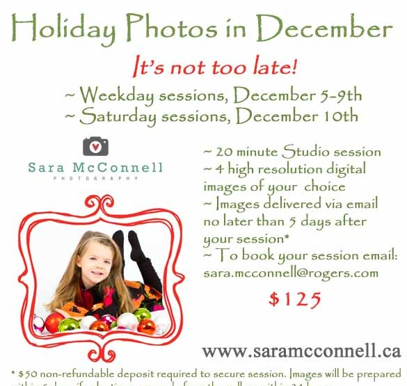 It's not too late for Holiday Photos! ~ Ottawa Family Photographer