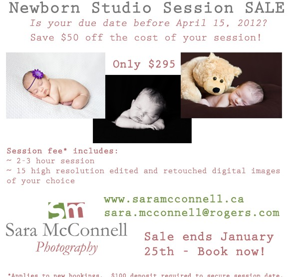 Newborn Photography Session SALE ~ Ottawa Baby Photographer