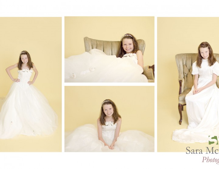 Two Generations of Wedding Dresses ~ Ottawa Child Photographer