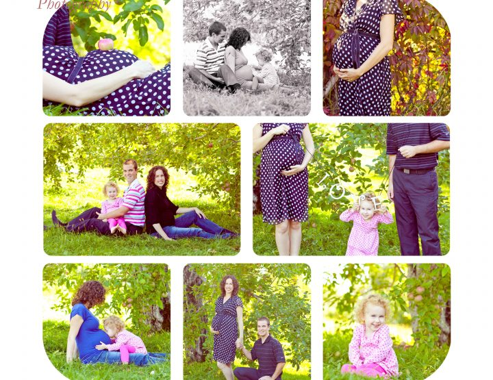 Fun in the apple orchard ~ Ottawa Maternity Photographer