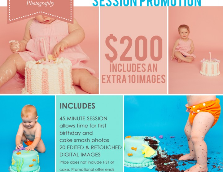 Cake Smash Promotion ~ Ottawa Baby Photographer