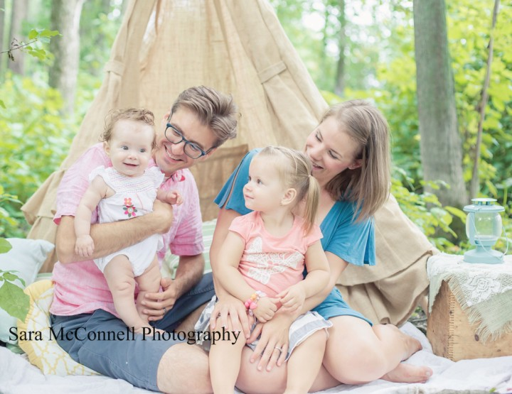 Playing in the TeePee ~ Ottawa Child Photographer