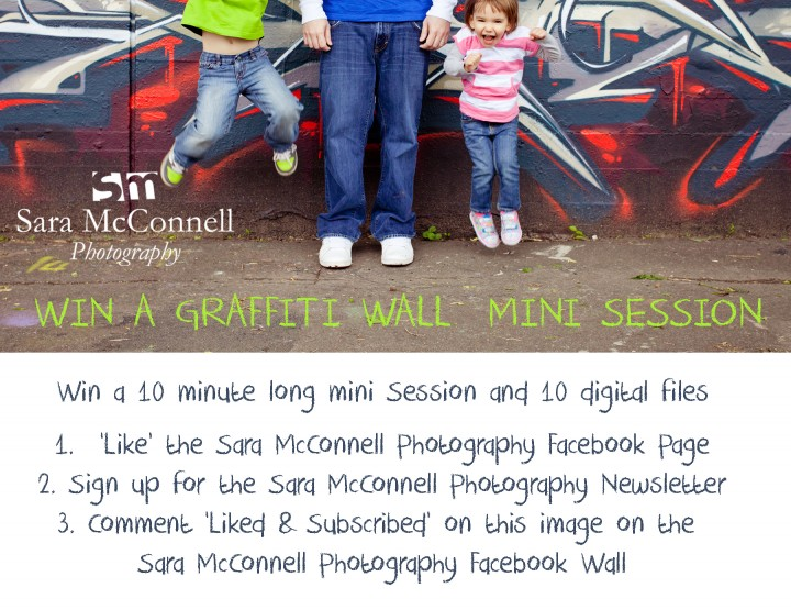 WIN a Graffiti Wall Mini Session ~ Sara McConnell Photography