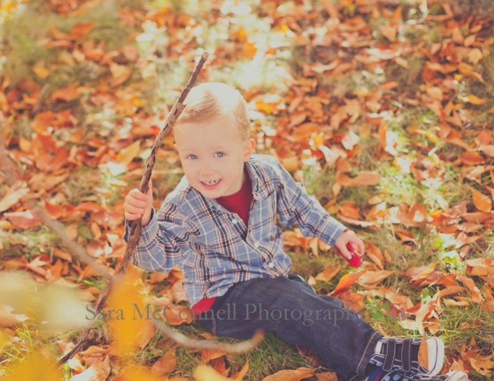 Playing with sticks ~ Ottawa Family Photographer