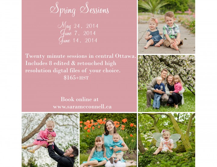 Book your Spring Photography Session ~ Sara McConnell Photography