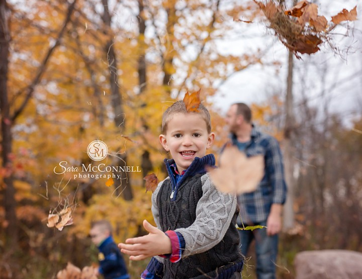 Ottawa Family Photographer | Fall Leaves are irresistible