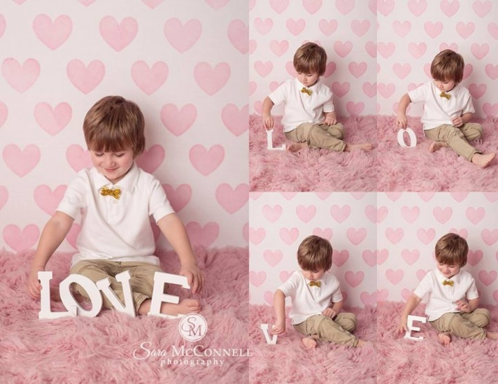 Valentine's Day Photography Session with Babies and Toddlers