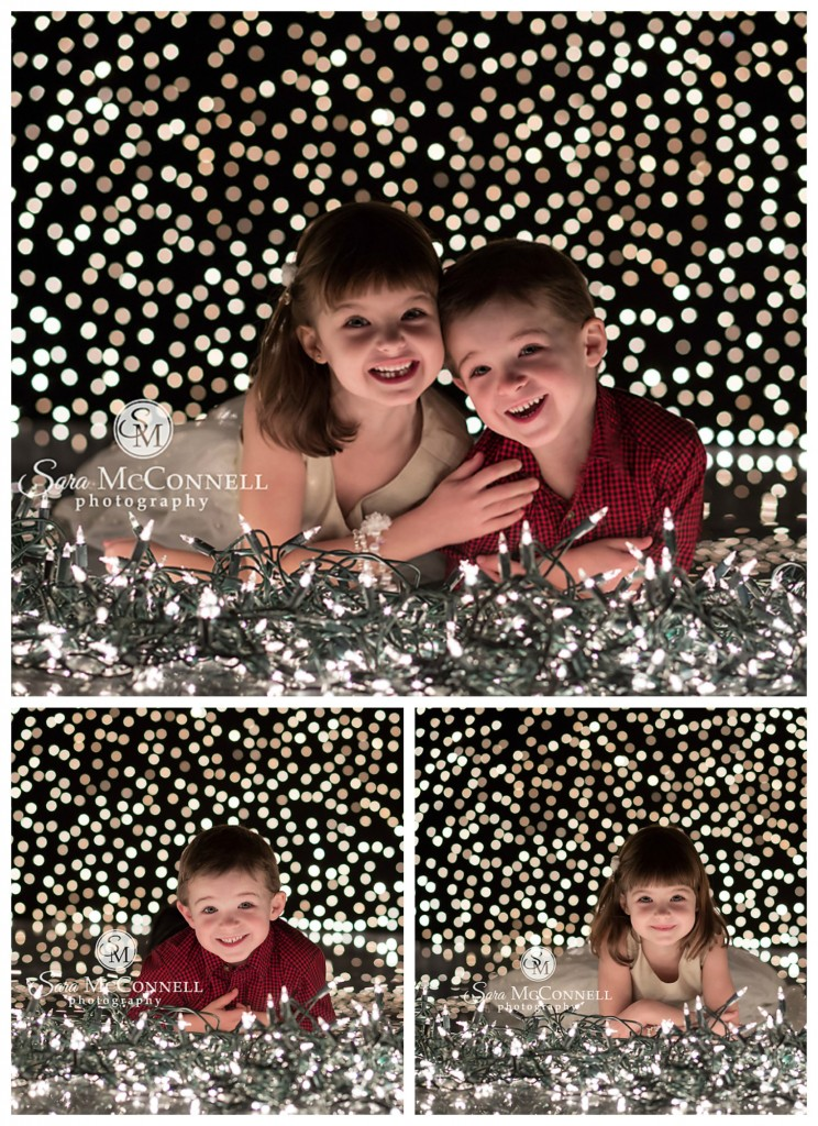 holiday light photos with kids