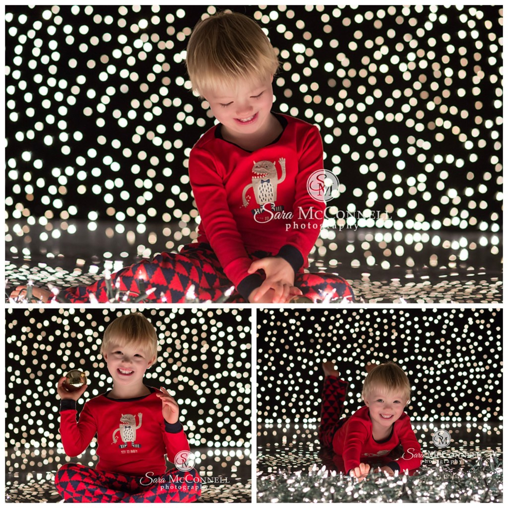 holiday lights family photographer