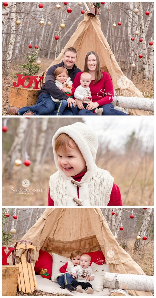 winter holiday family session ottawa