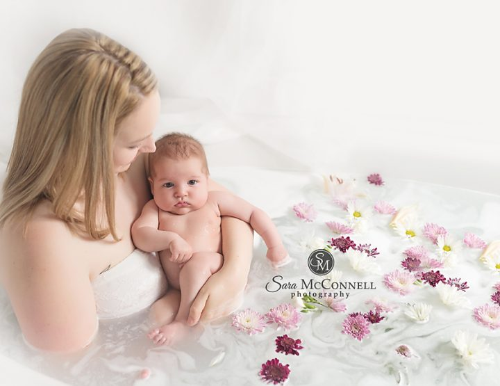 Milk bath photography session | Ottawa Baby Photographer