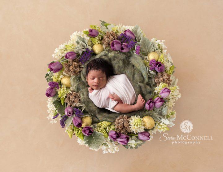 Ottawa Newborn Photographer | A newborn and a wedding dress