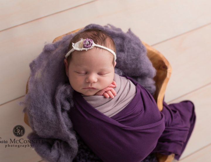 Ottawa Newborn Photographer | Purple