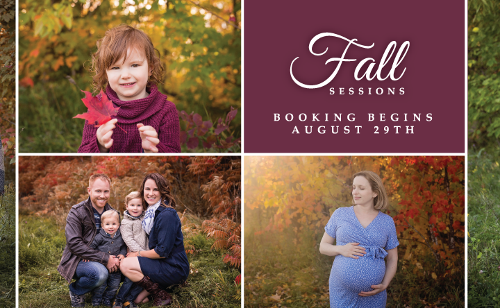 FAQ About 2017 Fall Sessions | Ottawa Photographer