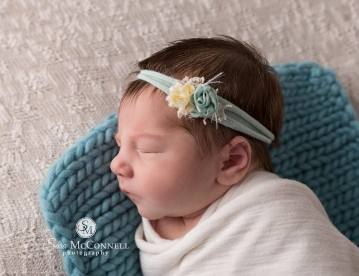 Ottawa Newborn Photographer | One smiling, one sleeping