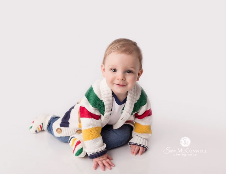 Ottawa Baby Photos | Smiling in a bowtie