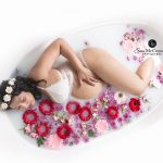 maternity milk bath photos by Sara McConnell Photography