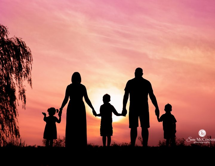 Silhouette and Sunset Family Photos