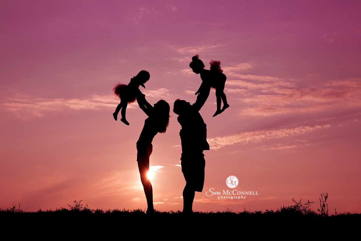 Ottawa Family Photos at sunset by Sara McConnell Photography