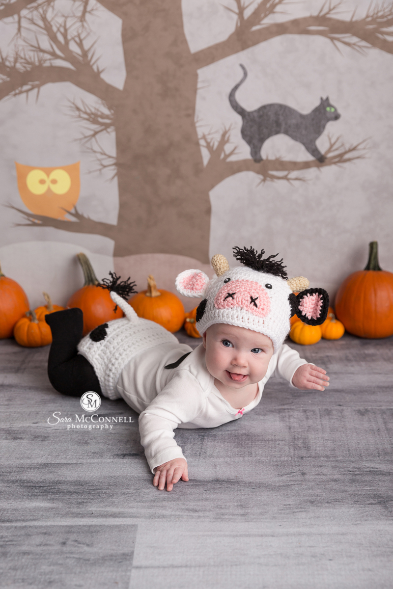 Baby in a Halloween costume