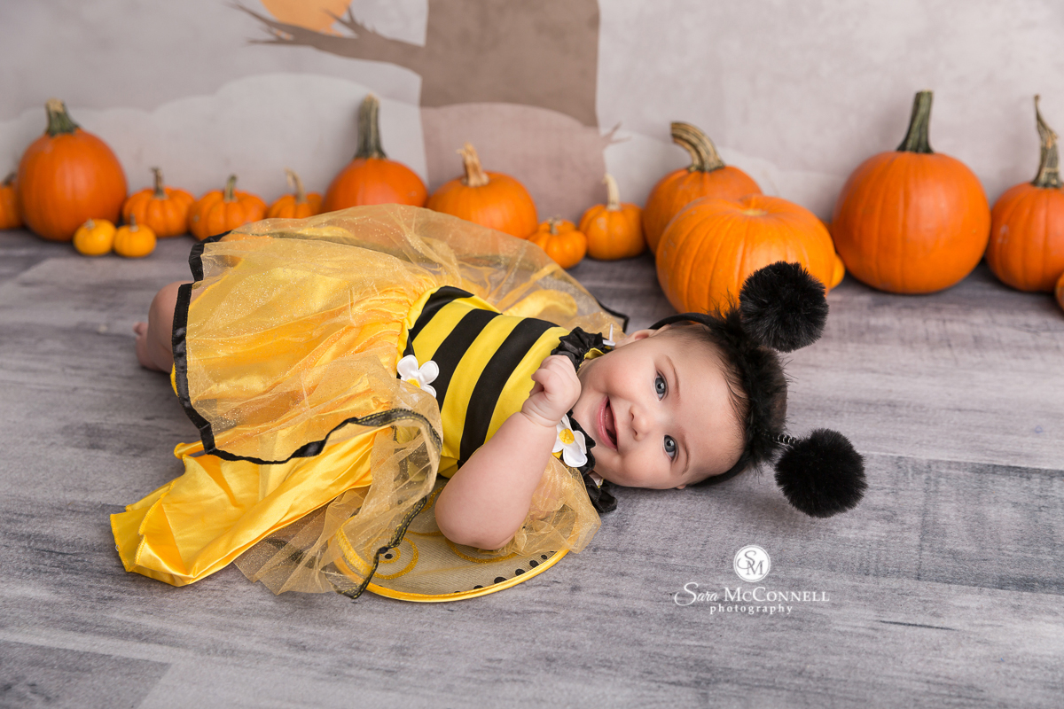 baby dressed as a bee