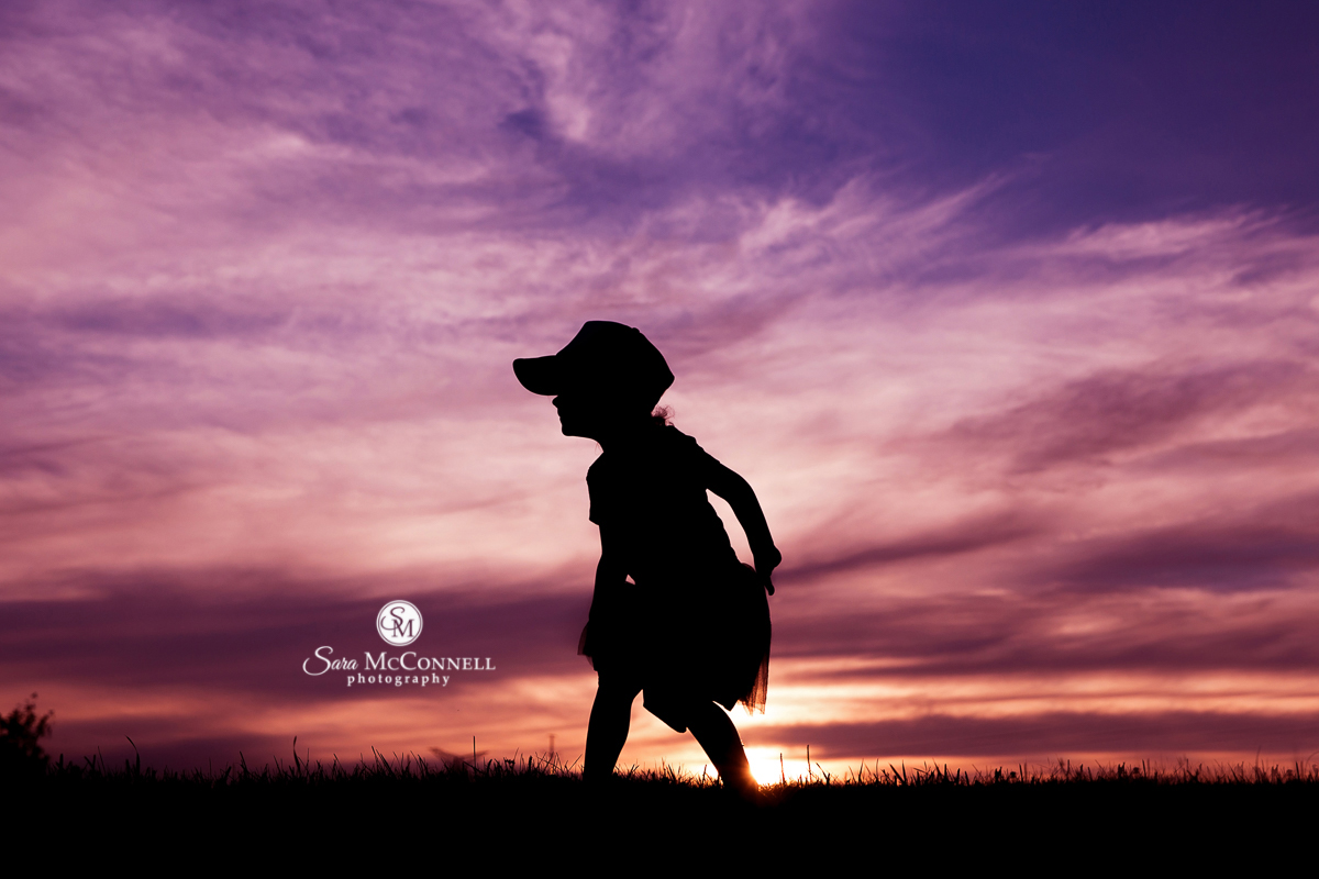Sunset silhouette photos by Sara McConnell Photography