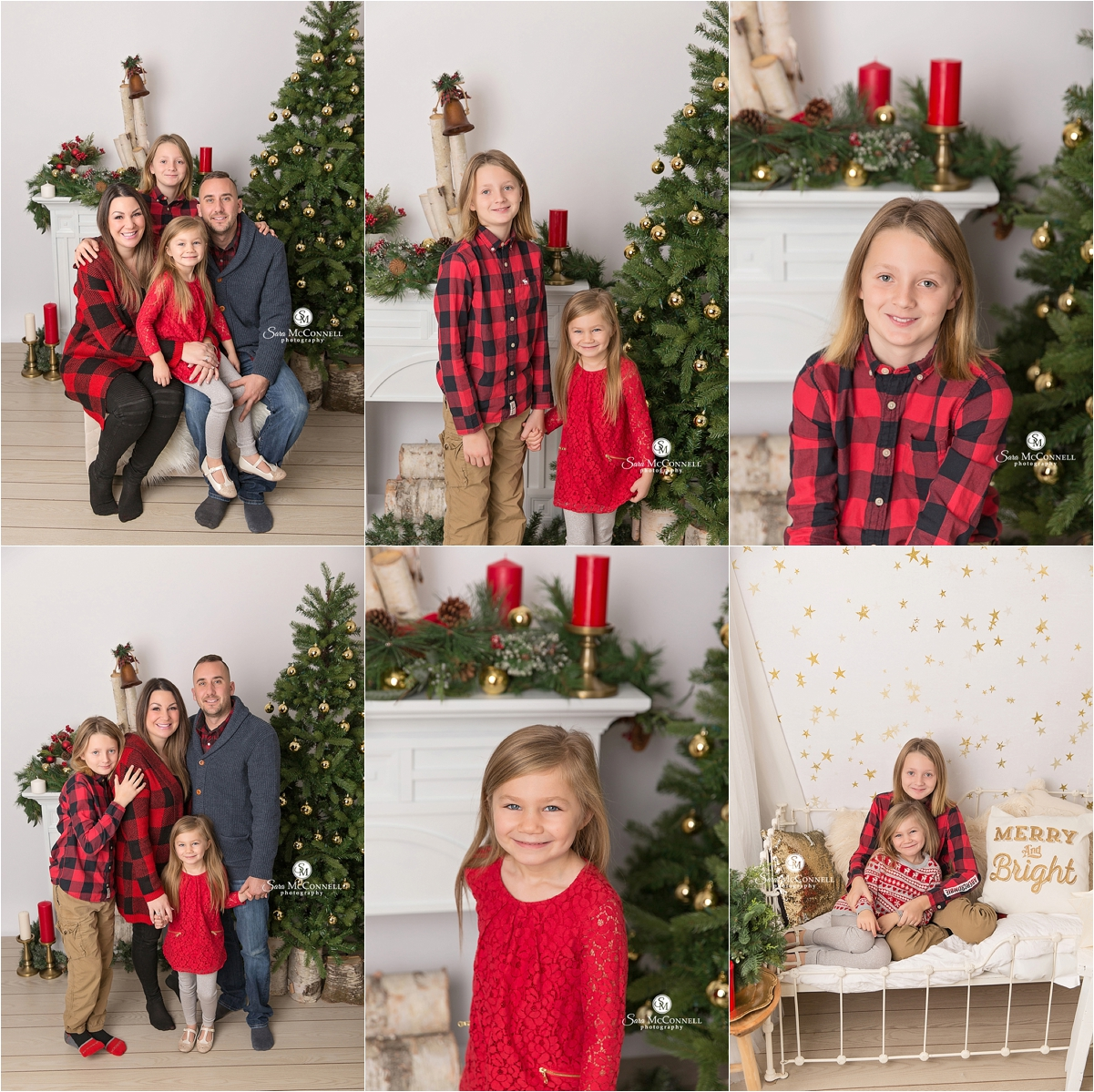 Holiday photos in studio by Sara McConnell Photography