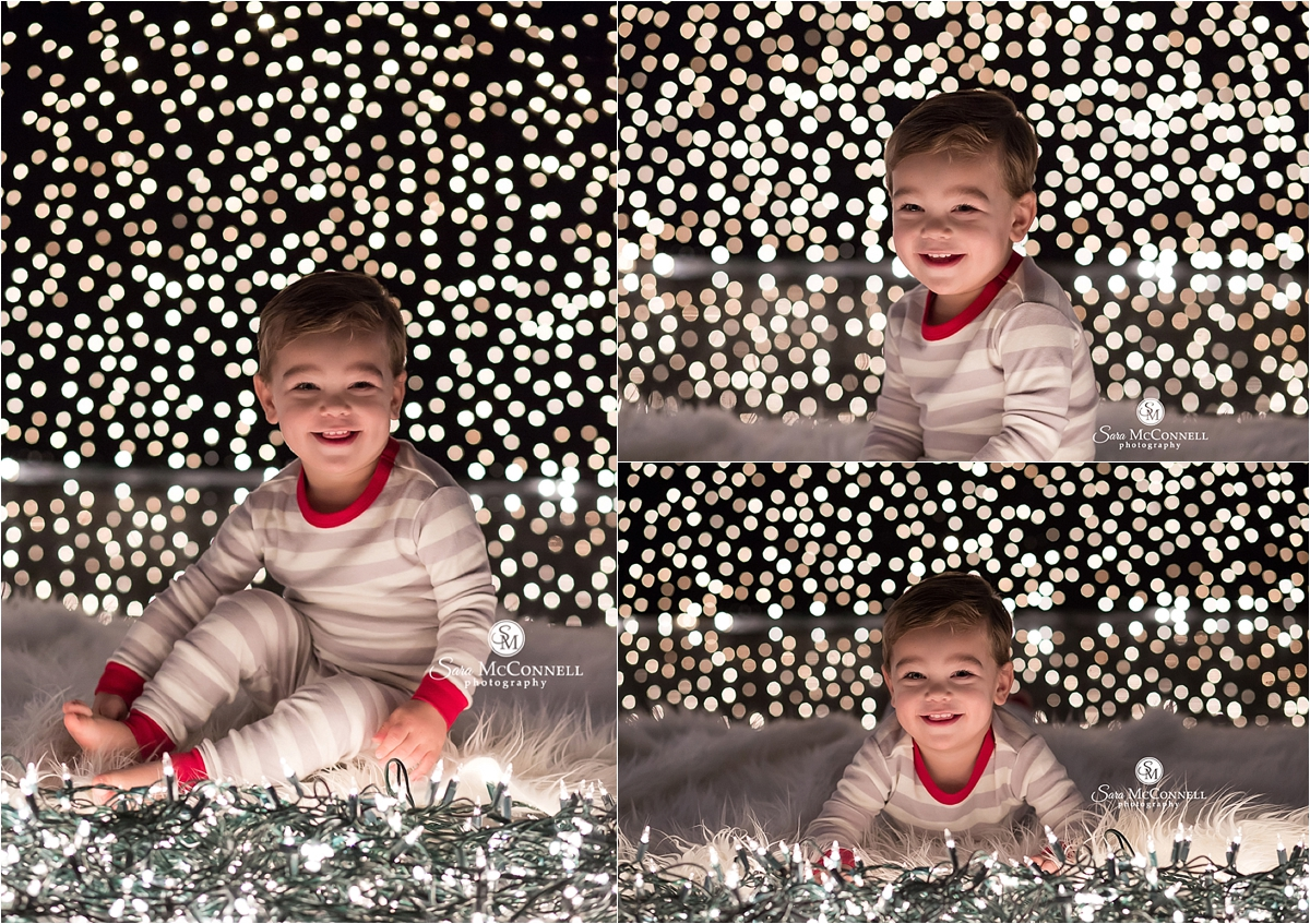 Holiday lights by Sara McConnell Photography