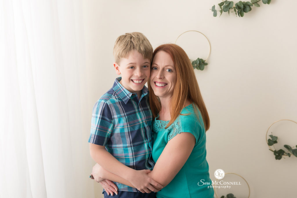 mother and son  for Mother's Day photos with Sara McConnell Photography
