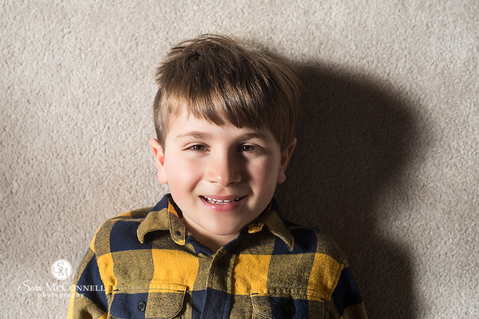 Photo of a young boy - lighting lesson from sara mcconnell photography