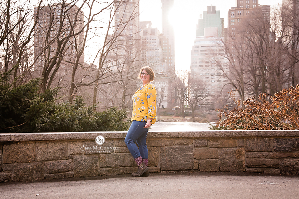 picture of sara mcconnell in central park New York