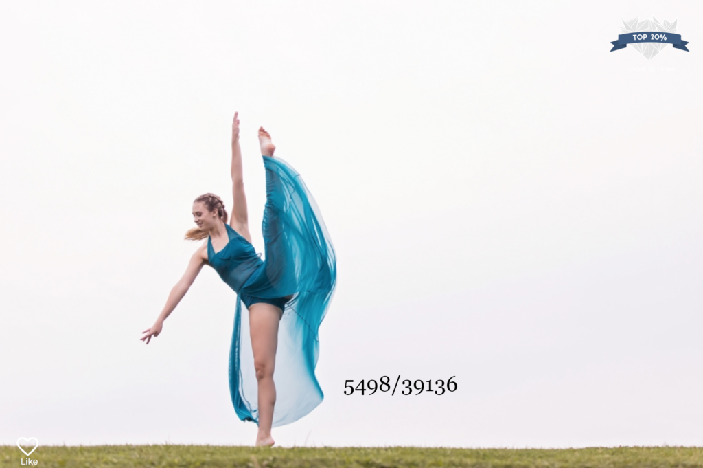 dancer in a blue dress by sara mcconnell photography