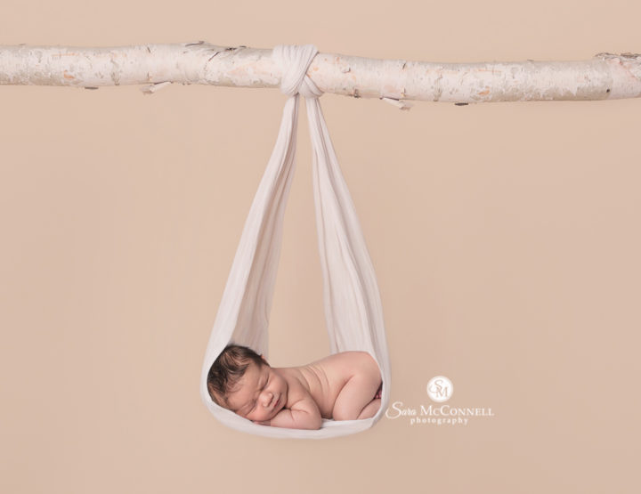 A newborn session for their new baby sister