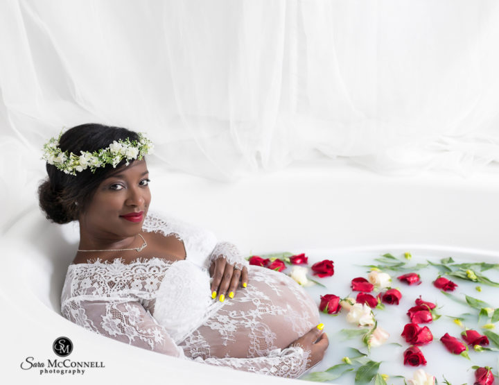 Radiant:  A maternity milk bath session