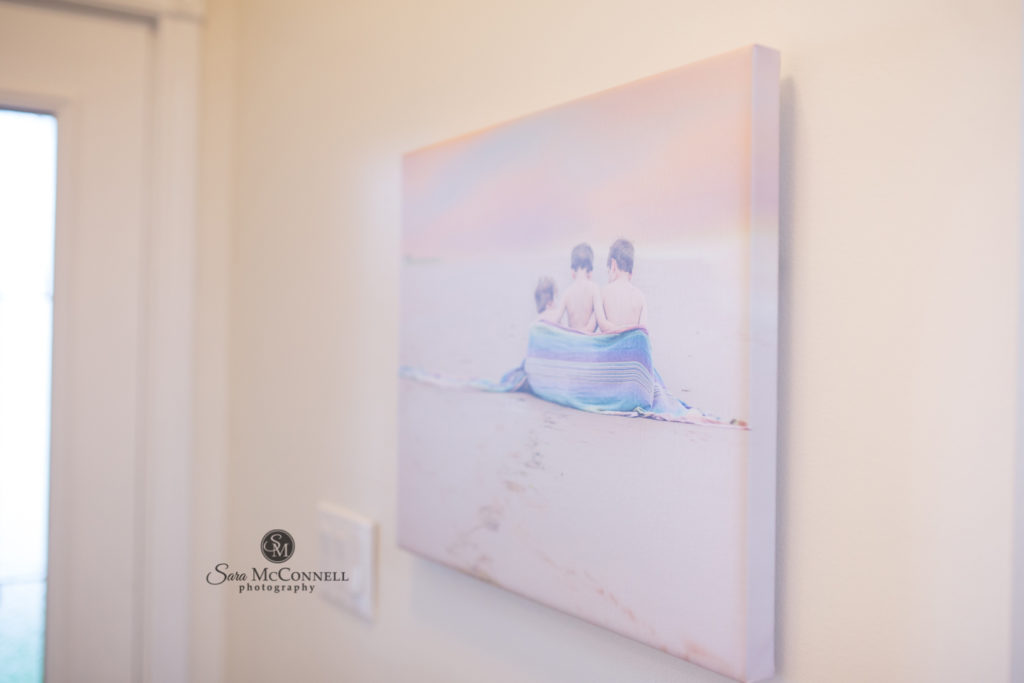 canvas photo hanging on a wall