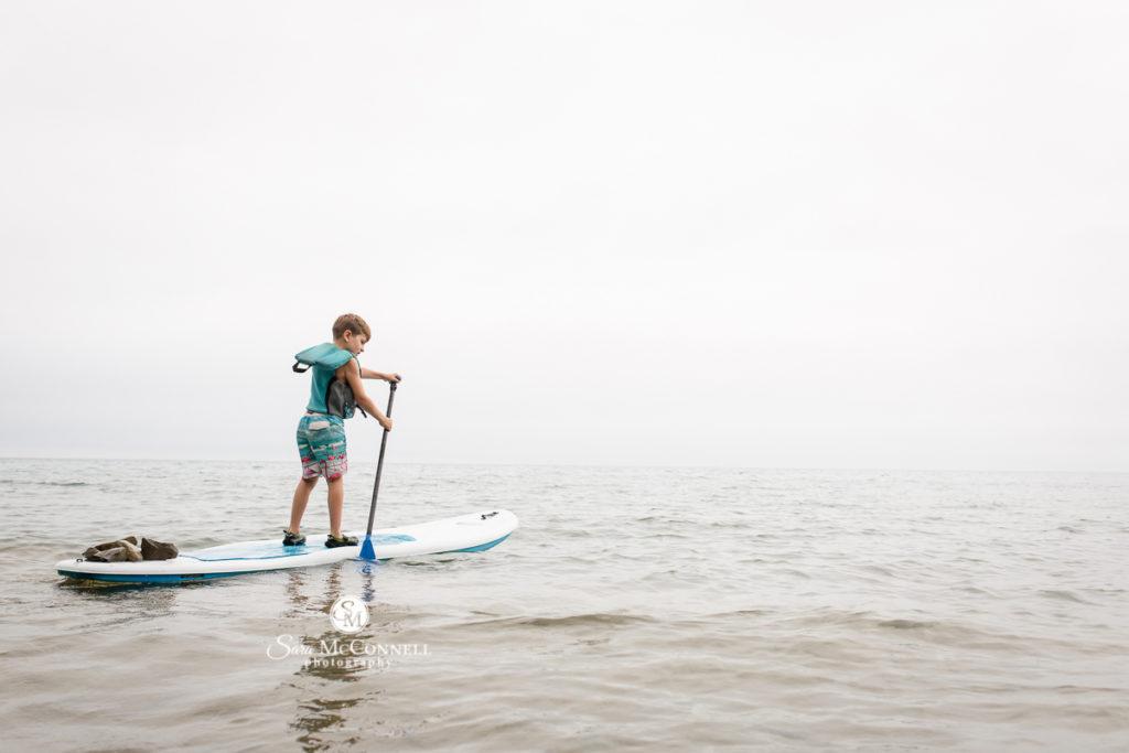 boy on a paddleboard