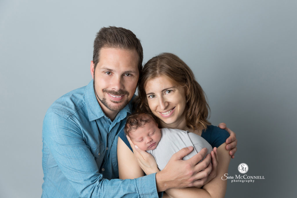 new parents with newborn baby