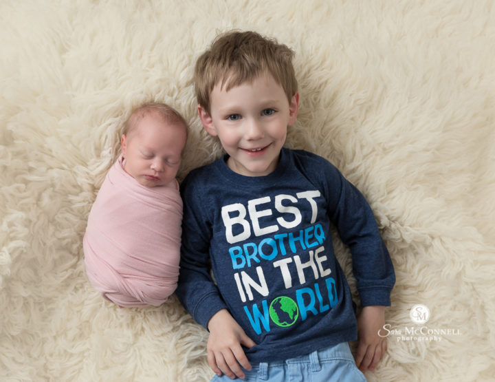 Ottawa Newborn Photographer | With his sister