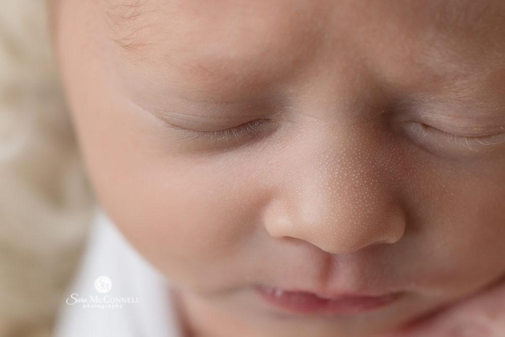 newborn baby's nose
