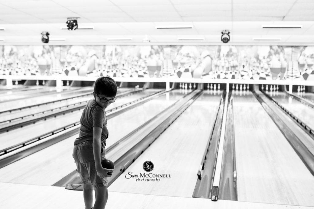 preteen boy bowling