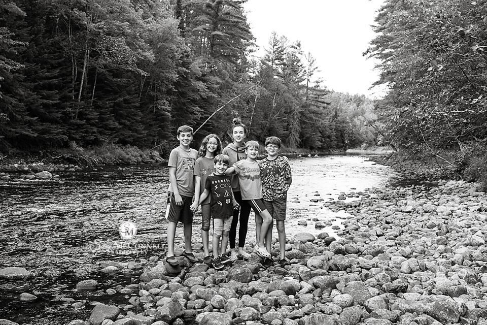 children by water