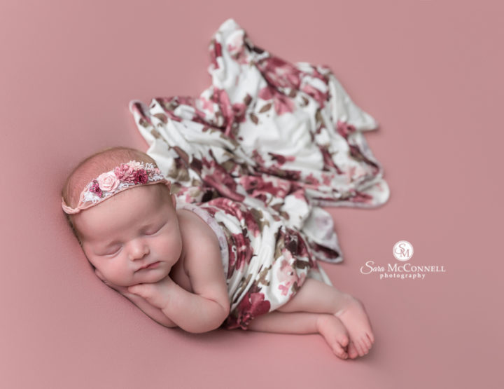 Ottawa Newborn Photographer | flowers and pink