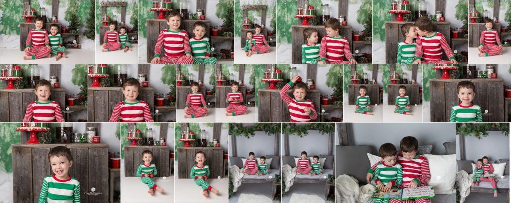 children in striped pyjamas sitting together