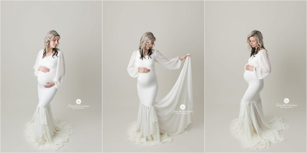 ivory maternity gown
