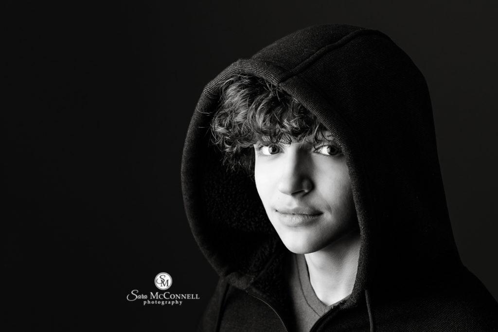 boy wearing hoodie