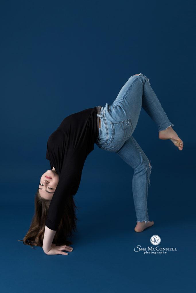 girl leaning back