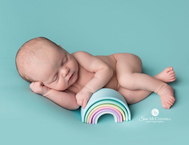 Ottawa Newborn Photos   Bows, wraps and rainbows