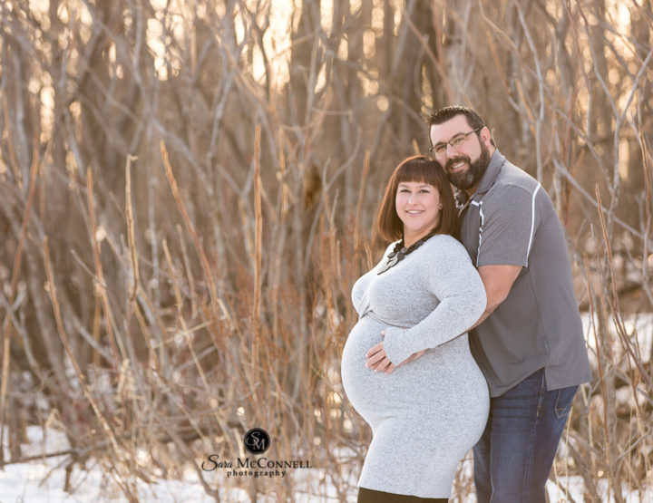Sunset Winter Maternity Session | Ottawa Photographer